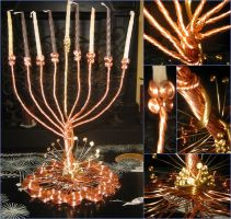 Desert Bloom Menorah by Attackfish