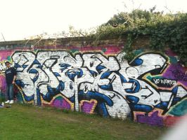Trackside kromie with Mars by korpz