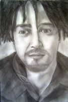 Adam Duritz (Counting Crows) BW by iViziDiManola