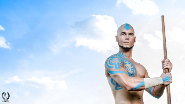 Adult Aang - Avatar: The Last Airbender by Elffi