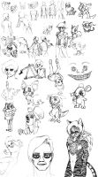 College Sketch Dump by GirlKirby