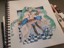 hatsune miku from seventh dragon by hyokyoung1015