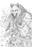 Rise of Fenrir - Lineart by Qzurr