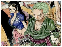 Zoro x Robin - Reunion by bonney-q
