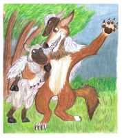 Blind to the Obvious - Wolf in Sheep's Clothing by CrystalMarineGallery