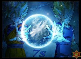 Goku and Vegeta = Earth (Page: Dragon Ball 7s) by Genkidama-Dmath7s