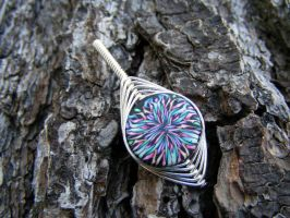 Wire Wrap PC Bead Pendant by Create-A-Pendant