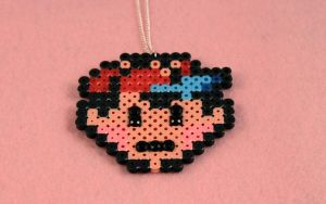 Ness Earthbound Head Necklace by PeppermintPuff