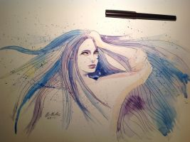 Pain for beauty Watercolor by odamargrethe