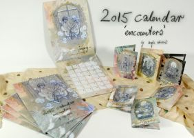 2015 calendar - 'encounters' by Miss-Belfry
