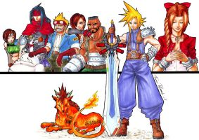 FF7 Playable Characters by Plaze