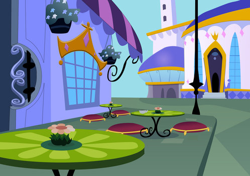 Canterlot cafe by Serginh