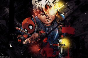 cable and deadpool by marcelo-g