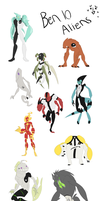 Ben 10 aliens by LittleKidsin