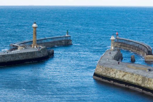 Whitby harbour mouth by ian-atkinson