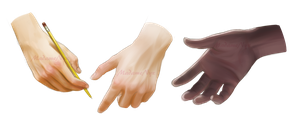Painting Practice - Hands by MadameNyx