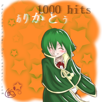 THX for 1000 hits by FujisakiNagi