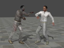 American men and American zombies. by Adngel