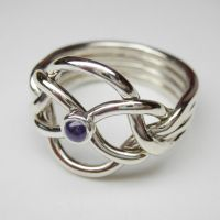Amethyst puzzle ring by Vansee-Jewelry