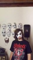 Jim Root's mask (vol.5 the Gray chapter) by Aknifefullofblood