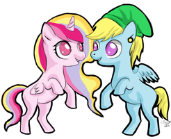 Chibi commission - Two cute pony OCs by FuriarossaAndMimma