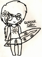 Surfer Girl (Collab) by xOAVRILOx
