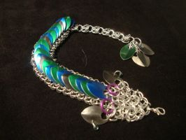 Green and Blue- Chainmail Dragon by xThe-Royal-Dragonx