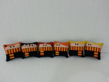 Handmade Harry Potter Mini Size Pillow Set of 6 by RbitencourtUSA