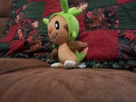 Chespin sideview by Chibi-Rainbow