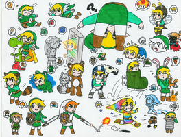 Link Super Mario Powerups by pocket-arsenal