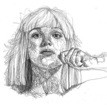 sia scribbles pen by Aeriz85