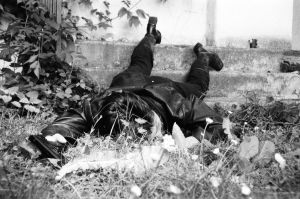 girl shot dead in the grass 2 by Scilla-Necis