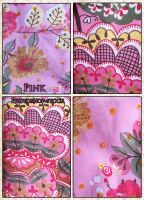Pink texture pack by photoshop-stock