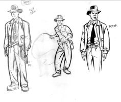 Indiana Jones Sketches 1 by cretineb