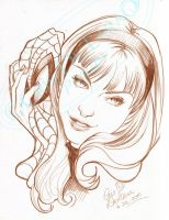 GWEN_STACY_PORTRAIT by CrisDelaraArt