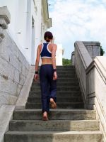 Lara Croft gym suit - stairs by TanyaCroft