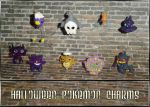 Halloween Pokemon Charms by YellerCrakka