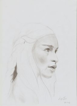Daenerys Targaryen pencil portrait (Unfinished) by HUGOILL