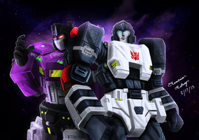Shattered Glass: Megatron/Optimus by M3trisjm92