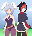 Riven and Fiora ( SFW version ) by 2kaze