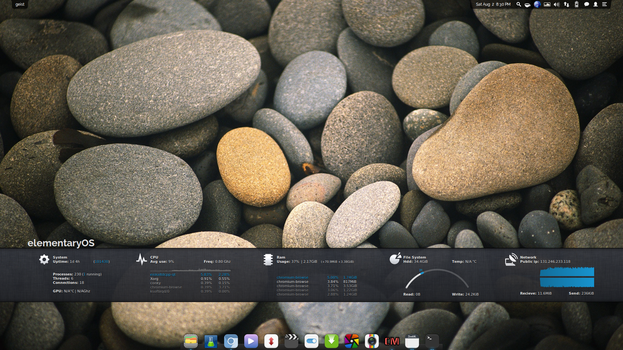 Conkybar V2 for Conky Manager by okaar