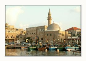Acco Harbor at 0615 by israel