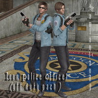 Leon Police Officer 'Off Duty' by DamianHandy