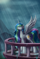 Basking in the Rain by Grennadder