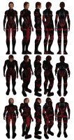 Mass Effect, Colossus Armour Medium, Female Ref. by Troodon80