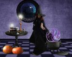 The Witch's Cauldron by Shirley-Agnew-Art