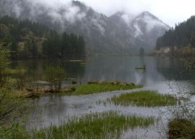 Lake,   Sichuan China by Timdockrill