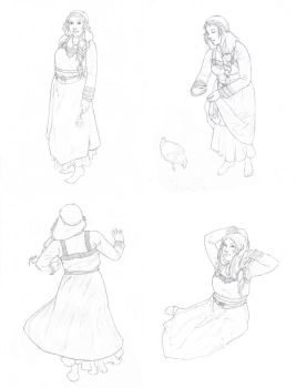 Jorunnr Sketch Page by Deirling