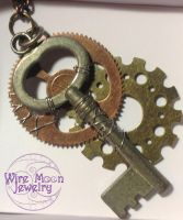 The Key to My Heart and the Gears to Keep it Going by WireMoonJewelry
