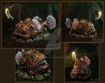 The angler fish, lamp, my handmade by hon-anim